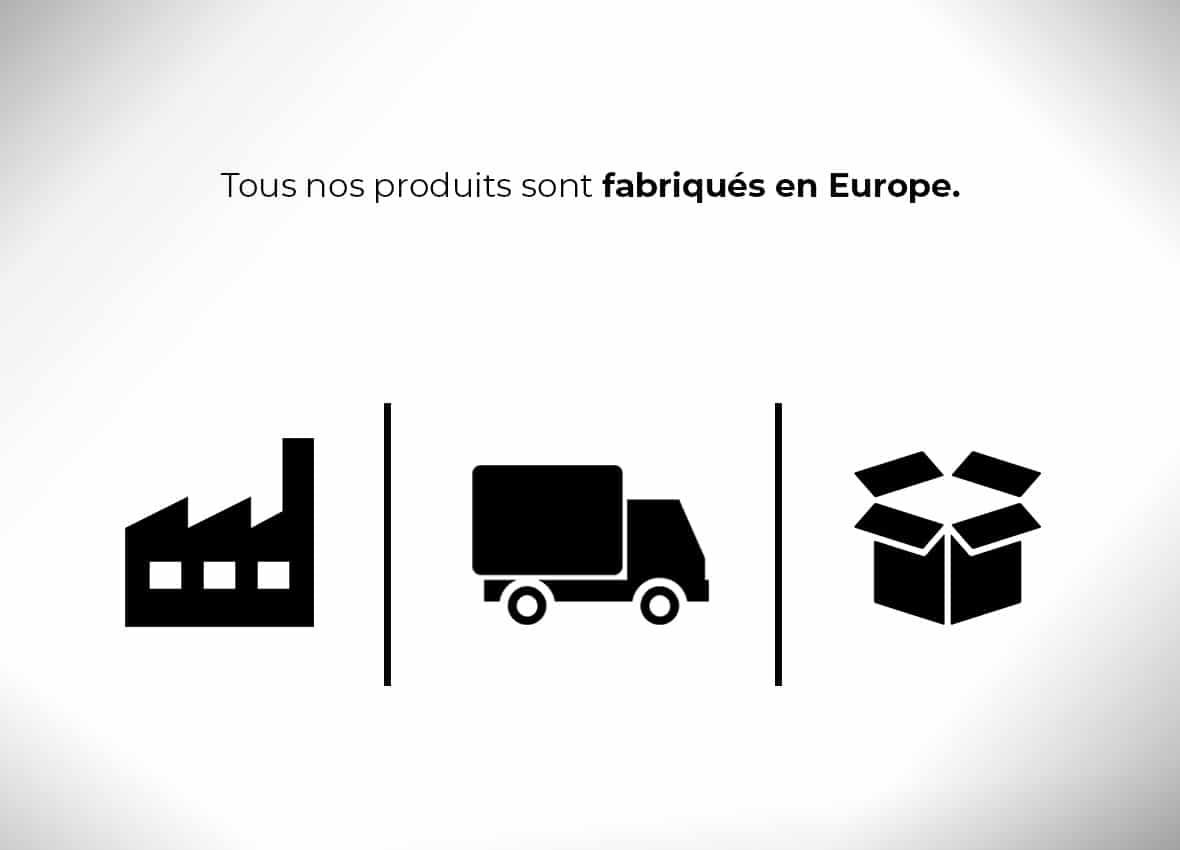 Tous nos caches cous sont fabriqués en Europe