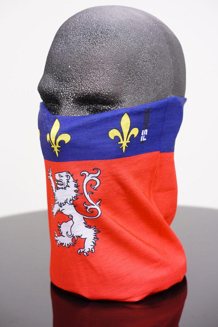 Cache Cou ou tour de cou drapeau Lyon
